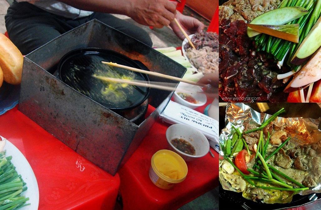 Bò Nướng (CIY grilled beefpork)