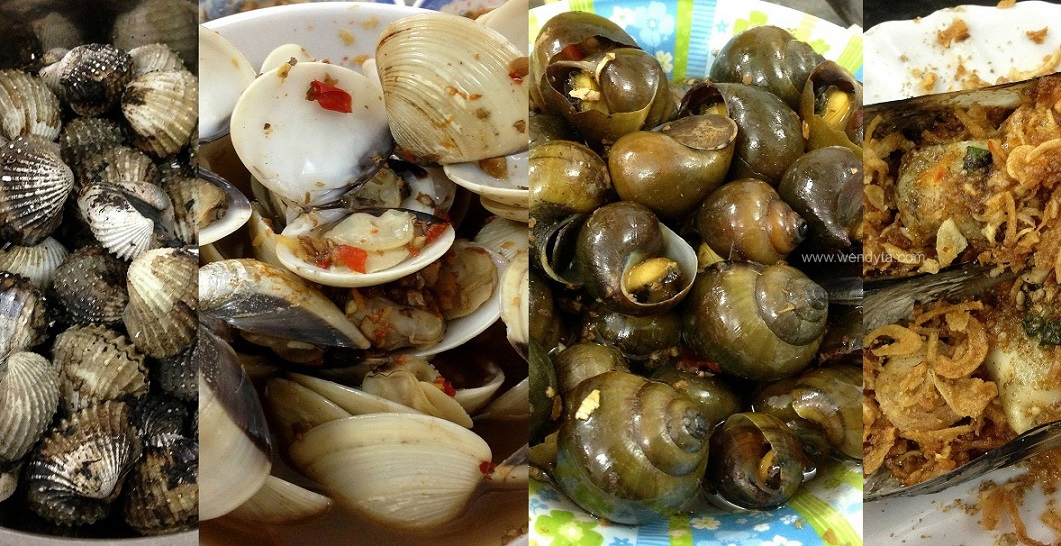 Ốc Xào (Snails & shellfish stir-fried)