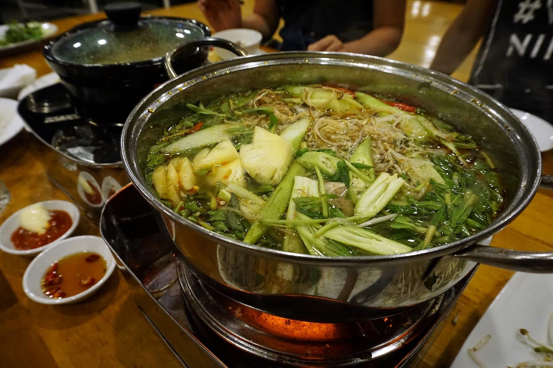 Hot & Sour Ray Fish Hot Pot (Lẩu Cá Đuối Chua Cay)