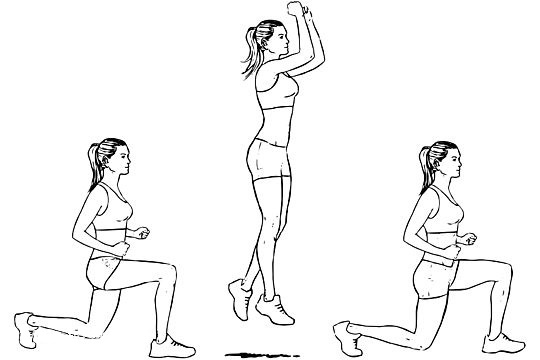 Alternating Lunge Jumps